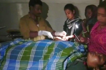 Bihar – Woman operated upon in torch...