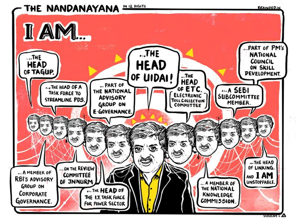 NandanAyana-The Net worth of Nandan Nilekani is Rs 7700 crore #Aadhaar