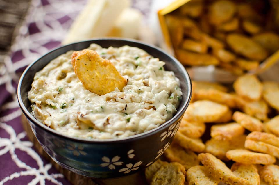 White Cheddar and Caramelized Onion Dip | Krafted Koch