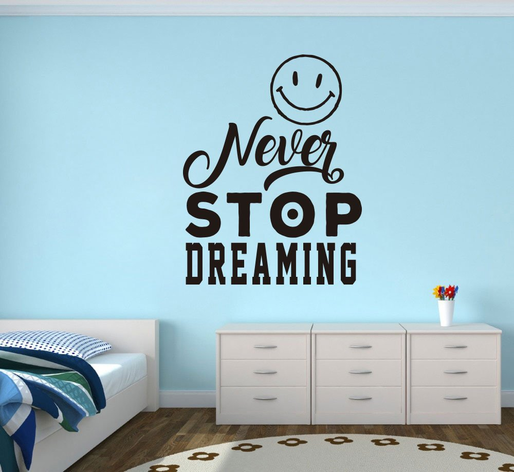 Quote Wall Decal Never Stop Dreaming Wall Decal Sticker Nursery For Home Decor Krafmatics