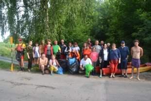 Spływ kajakowy z akcją sprzątania rzeki Rawki 2021