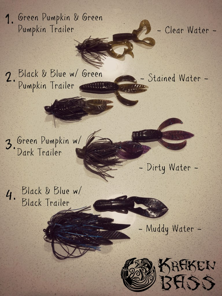 Top Fishing Jig Trailer Color Combo's