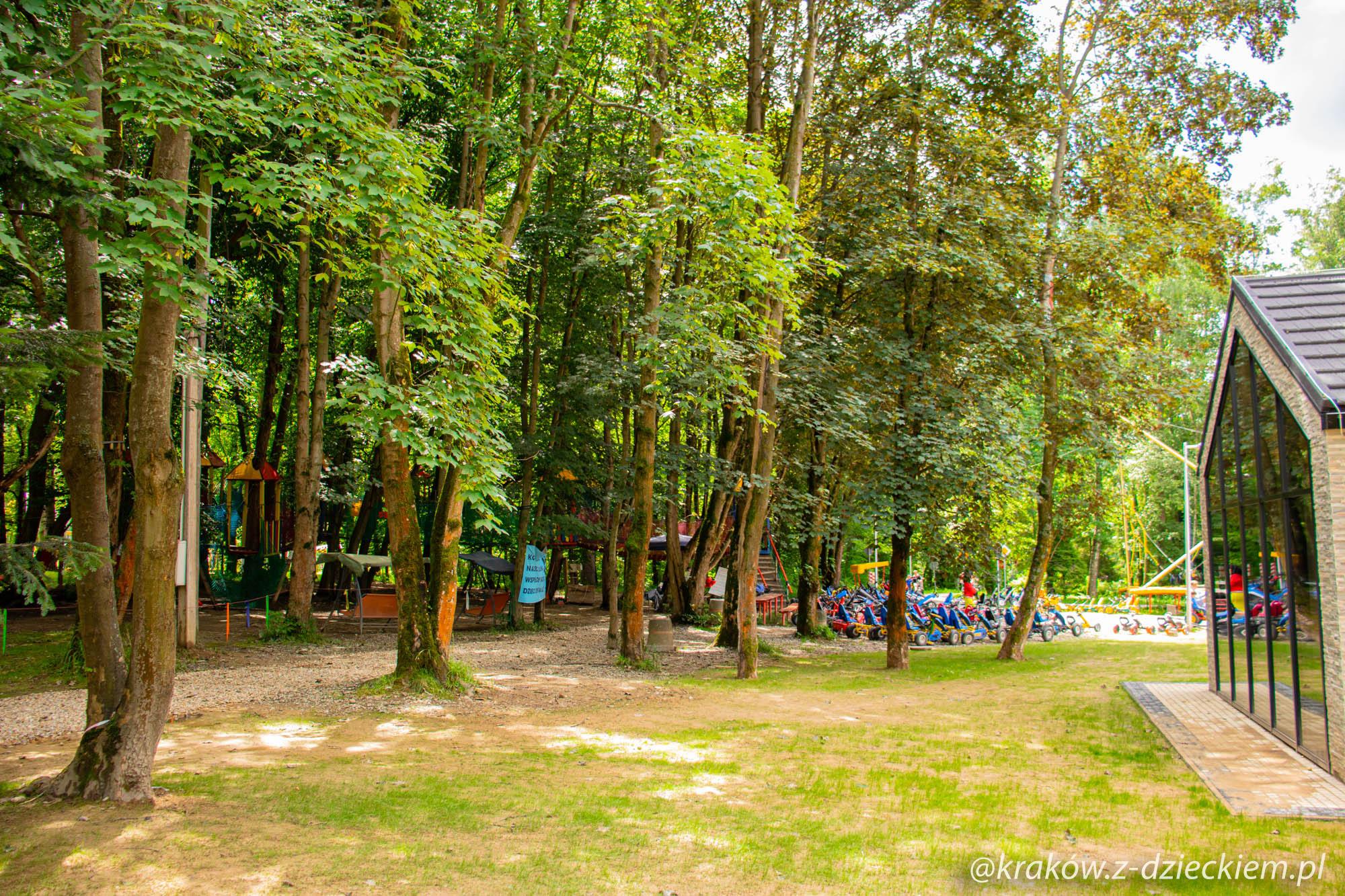 Park linowy i rowerki