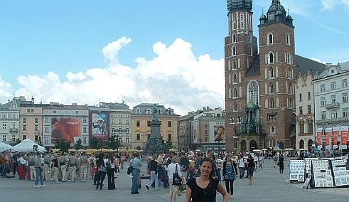 Main Market Square in Krakow - where the Christmas market is arranged