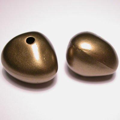fantasievorm mat goud 21x22 mm
