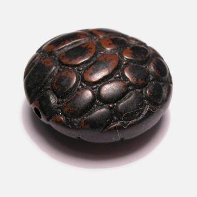 croco zwart/bruin 30 mm