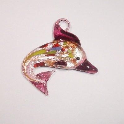 dolfijn paars 45 x 45 mm