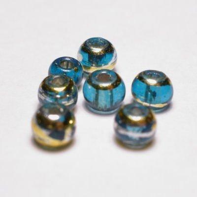 rond met streep turkoois 4 mm