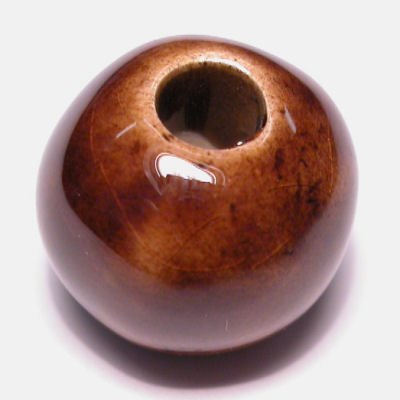 keramiek  bruin 14x17 mm
