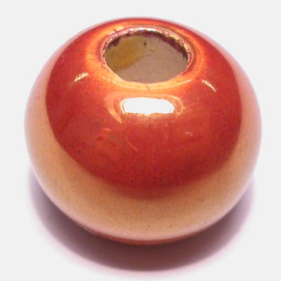 keramiek parelmoer koper 14x17 mm
