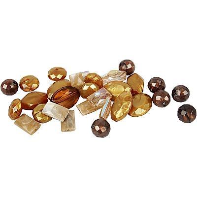 kunststof kralenmix harmony bruin 10-17 mm