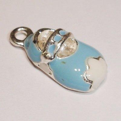 metalen kinderschoen blauw 14 x 8 mm