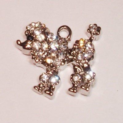 emaille hanger poedel kristal 20 mm