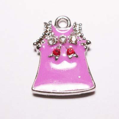 emaille hanger jurkje d.roze 25mm