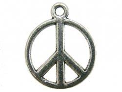 metalen hanger peace symbool 13 mm