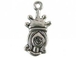metalen hanger bead queen 9x19mm