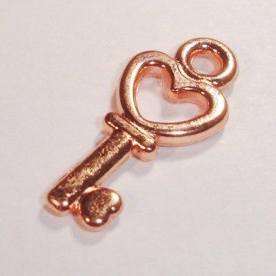 metalen hanger sleutel koper 21 mm