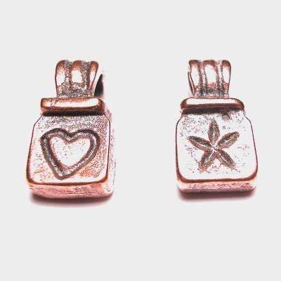 hanger hartje 7x13 mm brons