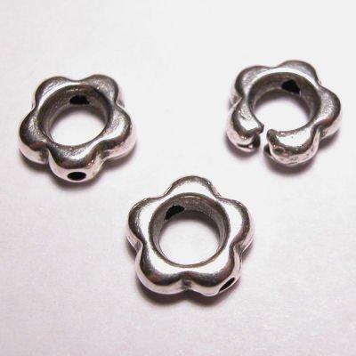metalen kraal 2-oog bloem 10 mm