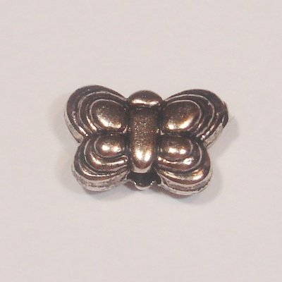 metal plated vlinder 8x5 mm