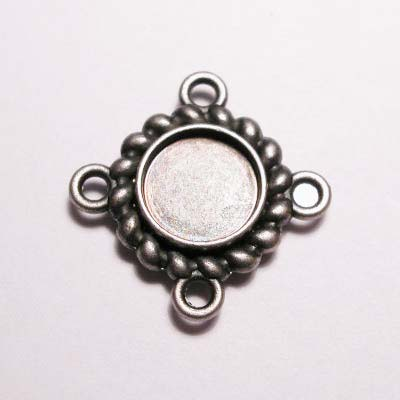 kastje 4-oog oud zilver 7 mm