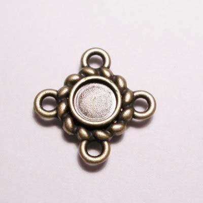 kastje 4-oog oud goud 4 mm