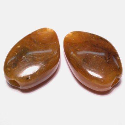 etnisch plat ovaal middenbruin 16x23 mm