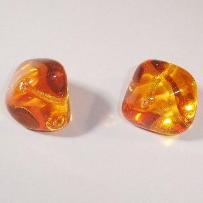 brok orange/geel 14x19 mm