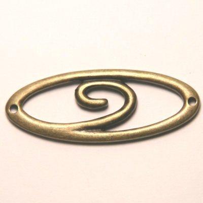 tussenzetsel ovaal spiraal antiek goud