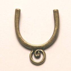 tussenzetsel voor 14mm kraal antiek goud
