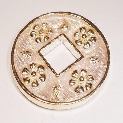 ring bloem wit 30 mm