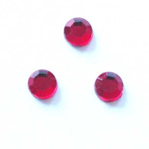 strass plaksteen kristal ruby 4 mm