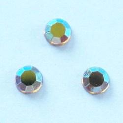 strass plaksteen kristal topaz AB 4 mm
