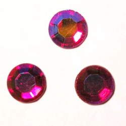 strass plaksteen kristal ruby AB 7 mm