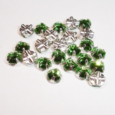 rijgstrass peridot 5 mm