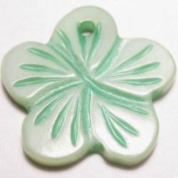 parelmoer hanger bloei groen 18 mm