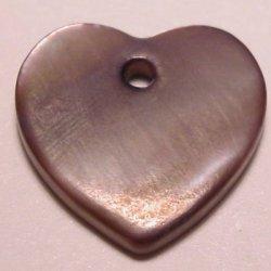 parelmoer hanger hart paars 12 mm