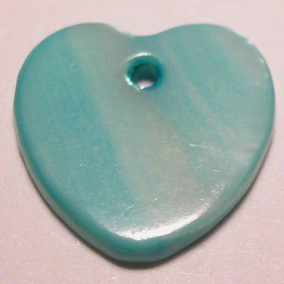 parelmoer hanger hart turkoois 12 mm