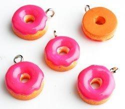 donut donker roze 13x6 mm