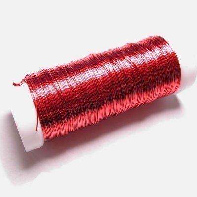 haakdraad rood 0,3 mm