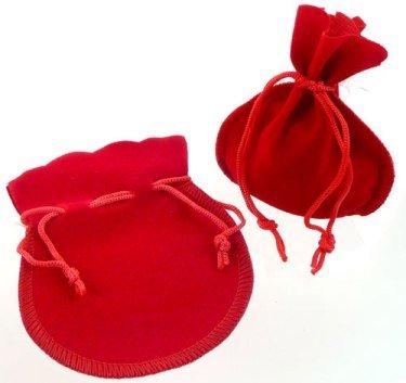 stoffen cadeautasje rood 105x90 mm