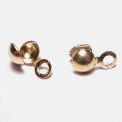 knijpkalotjes goud 5 mm