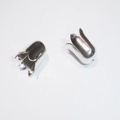 tulpkapje zilver 6x12 mm