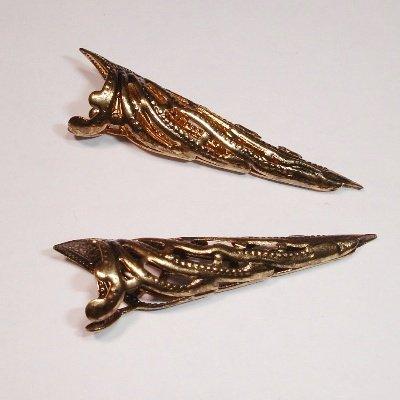 filigraan hoorntjes oud goud 35 mm