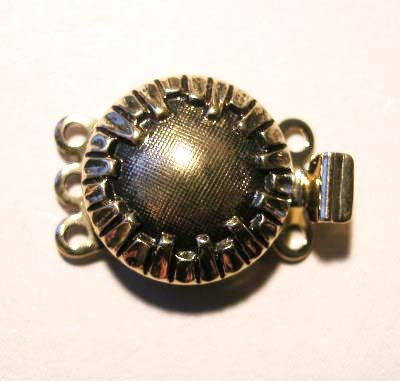 colliersluiting drie-rij oudgoud 14 mm