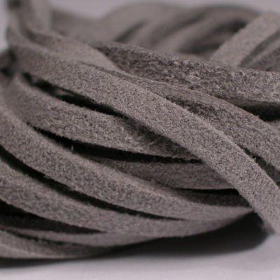 veter kunstsuede grijs 3 mm