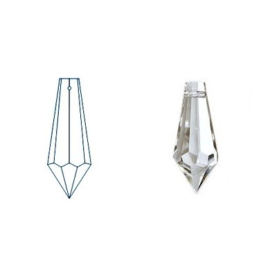 kristal hanger drop 38x13 mm crystal