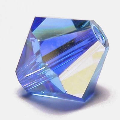 swarovski facet 4mm sapphire AB