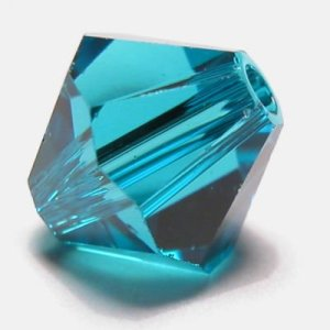 swarovski facet 6mm blue zircon