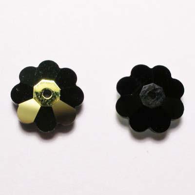 swarovski schijf bloem jet 10 mm